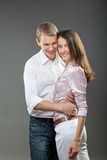 Portrait of smiling young couple Royalty Free Stock Photo
