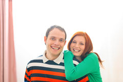 Portrait of smiling young couple Stock Image