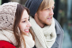 Portrait of smiling young couple Stock Photography