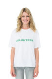 Portrait of a smiling young female volunteer Stock Photography