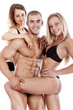 Portrait of a smiling young fitness people Royalty Free Stock Images