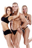 Portrait of a smiling young fitness people Stock Image