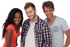 Portrait of smiling young friends Stock Photo