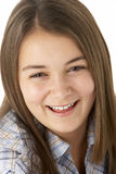 Portrait Of Smiling Young Girl stock images