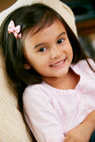 Portrait Of Smiling Young Girl. At camera Royalty Free Stock Images