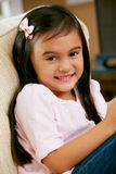 Portrait Of Smiling Young Girl. Looking at camera Stock Photography