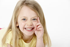 Portrait Of Smiling Young Girl Stock Image
