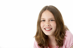 Portrait Of Smiling Young Girl Royalty Free Stock Images