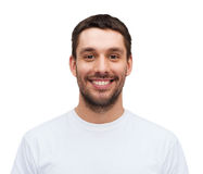 Portrait of smiling young handsome man Stock Photography