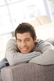 Portrait of smiling young man Stock Photos