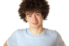 Portrait of a smiling young man. Closeup portrait of a smiling happy young man isolated on white background Stock Photos