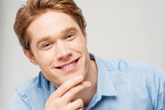 Portrait of smiling young man Royalty Free Stock Image