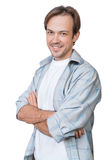 The portrait of smiling young man Stock Photography