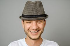 Portrait of smiling young man looking at camera royalty free stock images