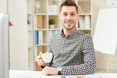 Portrait of Smiling Young Manager royalty free stock images