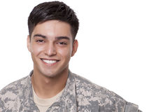 Portrait of a smiling young soldier Royalty Free Stock Image