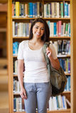 Portrait of a smiling young student standing up Stock Photos