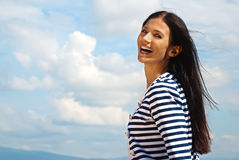 Portrait of smiling young woman Royalty Free Stock Photos