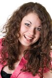 Portrait of the smiling young woman. Isolated Royalty Free Stock Images