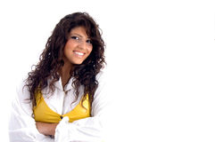 Portrait of smiling young woman Royalty Free Stock Image