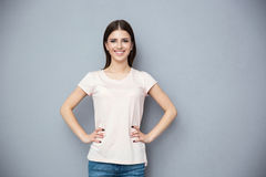 Portrait of a smiling young woman Royalty Free Stock Image
