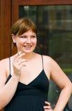 Portrait smoke Girl Stock Image
