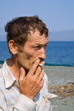 Portrait of Smoking Man 1 Stock Image