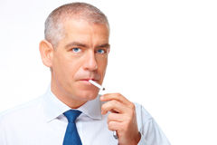 Portrait of smoking man Royalty Free Stock Image