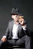 Portrait of the smoking man Royalty Free Stock Image