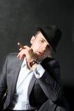 Portrait of the smoking man Royalty Free Stock Photo