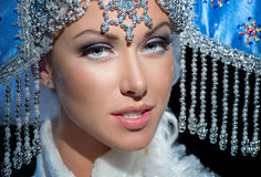Portrait of a snow maiden Royalty Free Stock Image