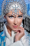 Portrait of a snow maiden Royalty Free Stock Images