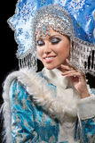 Portrait of a snow maiden Stock Image