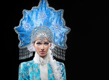 Portrait of a snow maiden Royalty Free Stock Photography