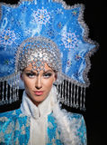 Portrait of a snow maiden Royalty Free Stock Photos