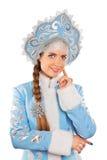 Portrait of snow maiden Stock Photo