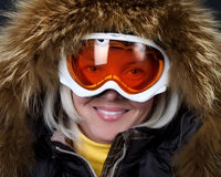 Portrait of snowboarder Stock Images