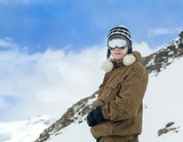 Portrait of a snowboarder Stock Image