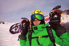 Portrait of snowborder Stock Photo
