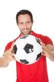 Portrait of soccer player Royalty Free Stock Photos