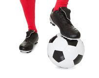Portrait of soccer player Stock Photo
