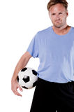 Portrait from a soccer player Stock Images