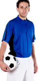 Portrait from a soccer player Stock Photo