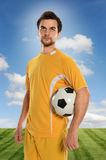 Portrait of Soccer Player Stock Photography