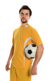 Portrait of Soccer Player Royalty Free Stock Image