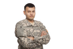 Soldier with arms crossed Royalty Free Stock Photos