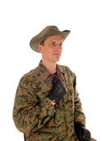 Portrait of a soldier. Royalty Free Stock Images