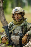 Portrait of a soldier in the woods Royalty Free Stock Photo