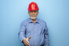 Portrait of a solid confident architect engineer stock images