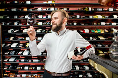 Portrait of Sommelier Royalty Free Stock Photos
